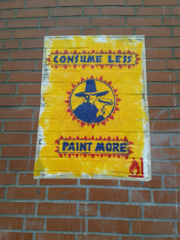 Consume less, paint more